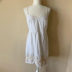 Anthropologie Feather Bone poplin tank dress #1510